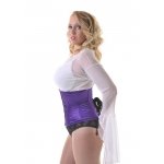 Ava Purple Satin W/cincher Corset